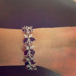 Jewelry - Butterfly garnet bracelet diamond